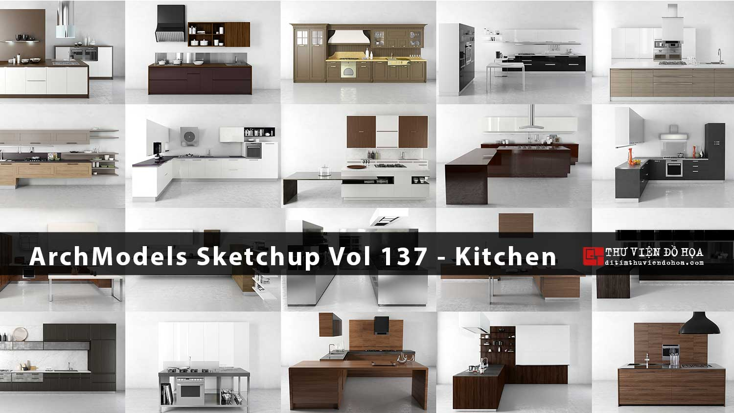 [ SketchUp Library ] Evermotion ArchModels Sketchup Vol 137 - Kitchen